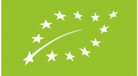 logo rolnictwa ekologicznego (listek z gwiazdkami)